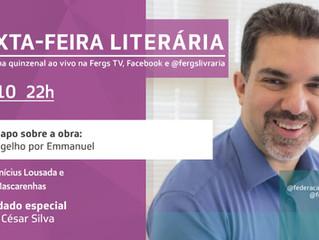 Sexta-feira Literária terá Saulo César Silva como convidado