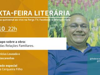 Alírio de Cerqueira Filho será o convidado da Sexta-feira Literária desta semana