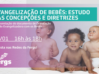 Área da Infância e Juventude promove Webinário sobre Evangelização de Bebês