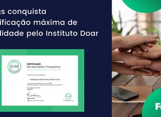 Fergs conquista certificação máxima de qualidade pelo Instituto Doar