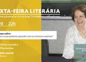 Eulália Bueno e os romances espíritas na Sexta-feira Literária desta semana
