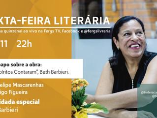 Beth Barbieri e a obra Os Espíritos Contaram na Sexta-feira Literária