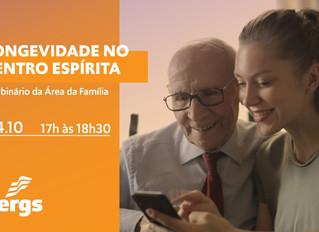 Área da Família promove Webinário sobre Longevidade no Centro Espírita