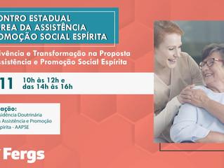 Fergs realiza Encontro Estadual da Área da Assistência e Promoção Social Espírita