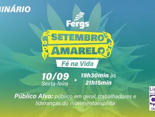 """Fergs promove Webinário """"Fé na vida"""""""