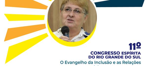 Sandra Borba é presença confirmada no 11º Congresso Espírita do RS