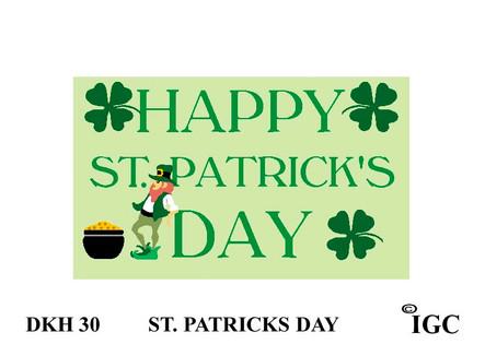 St Patrick's Day Doorknob Hanger