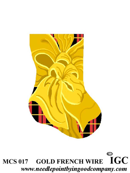 Gold French Wire mini sock