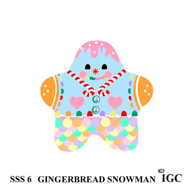 Gingerbread Snowman Star