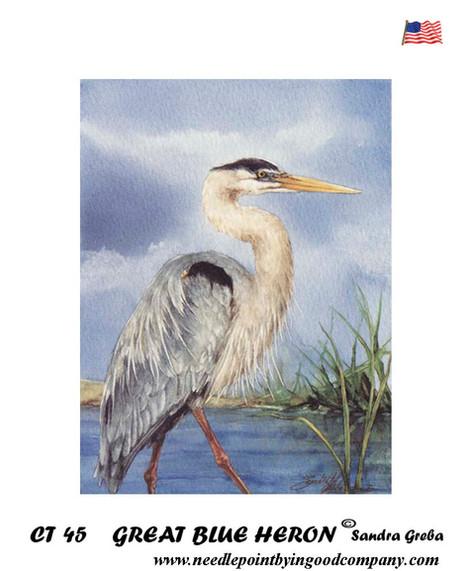 Great Blue Heron - Sandra Greba