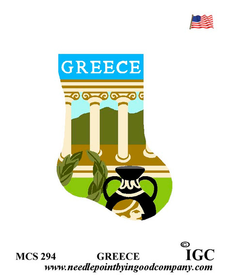 Greece mini sock