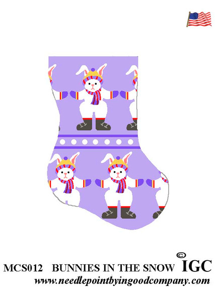 Bunnies In The Snow mini sock