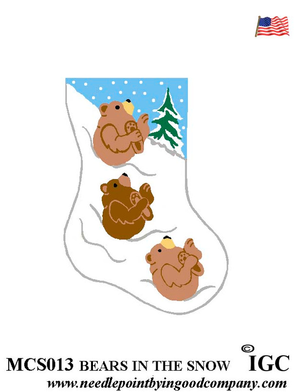 Bears In The Snow mini sock