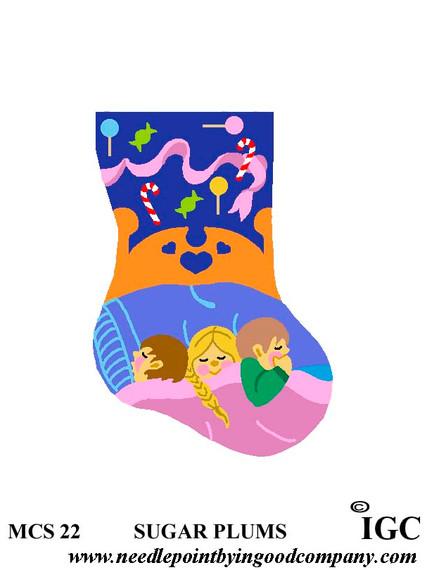 Sugar Plums mini sock