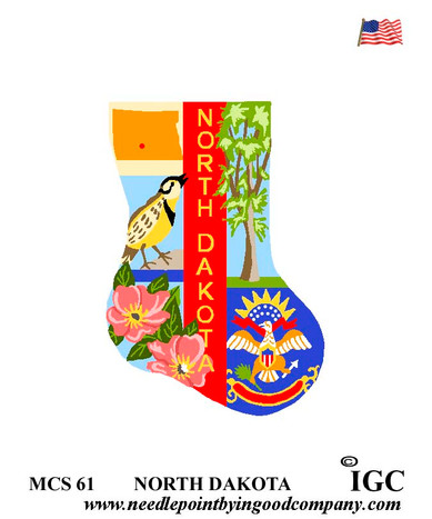 North Dakota Mini Sock