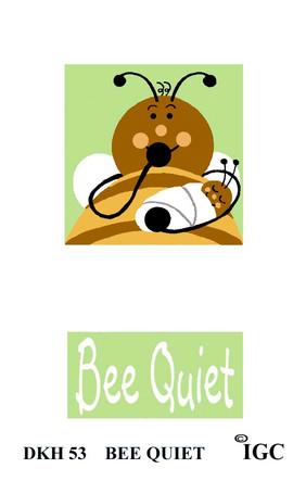 Bee Quiet doorknob hanger