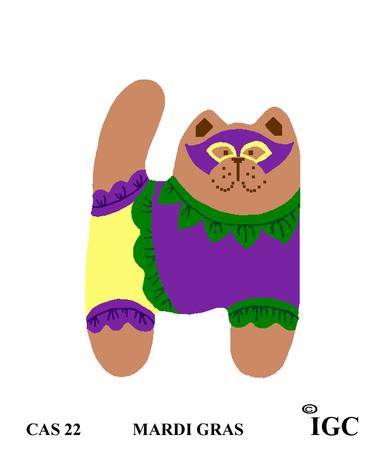 Mardi Gras Cat