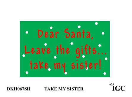 Dear Santa sister