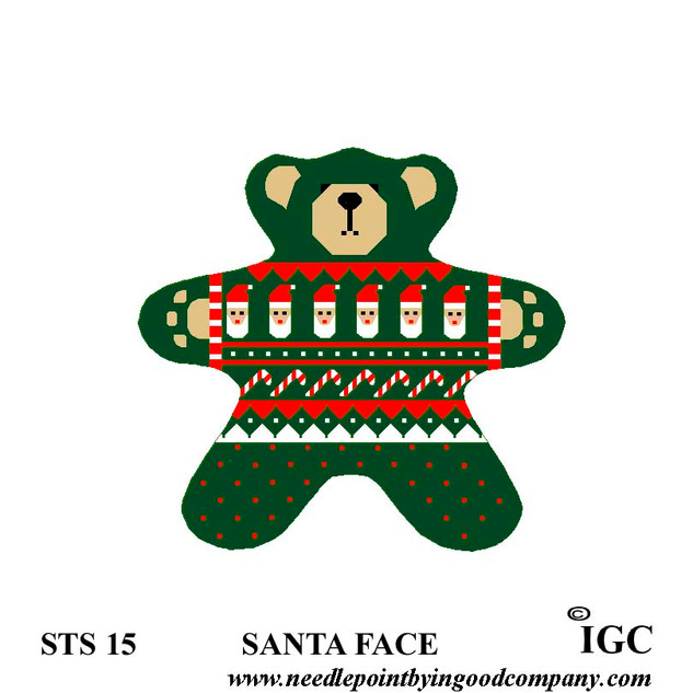 Santa Face Bear