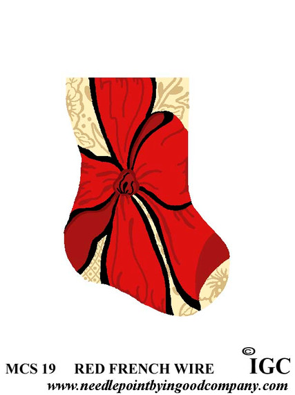 Red French Wire mini sock