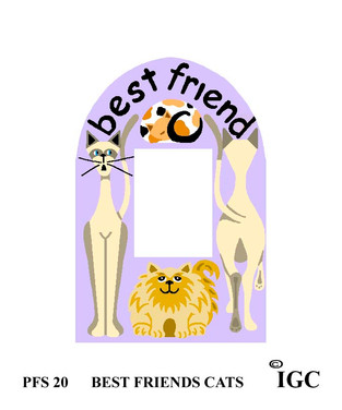 Best Friends Cat Small Frame