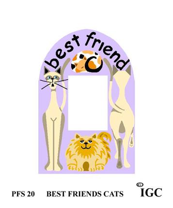 Best Friends Cat Small Frame