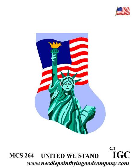 USA United We Stand mini sock