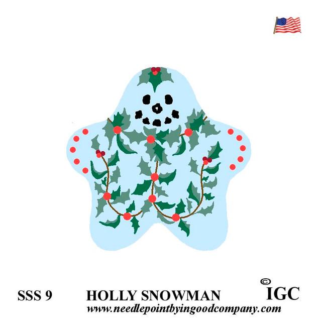 Holly Snowman Star