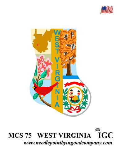 West Virginia Mini Sock