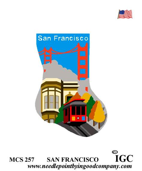 San Francisco mini sock