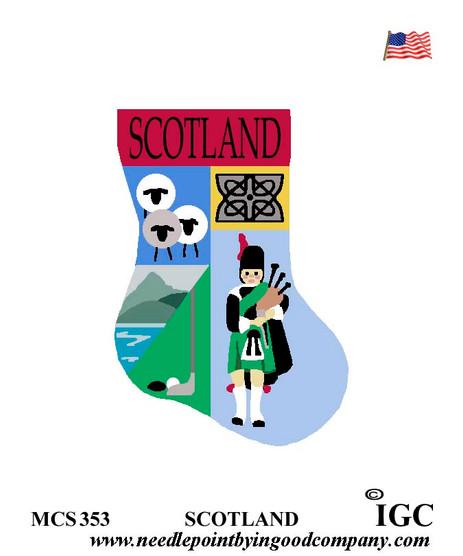 Scotland mini sock