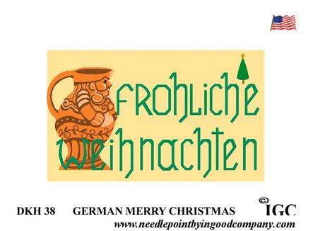 German Merry Christmas Doorknob Hanger