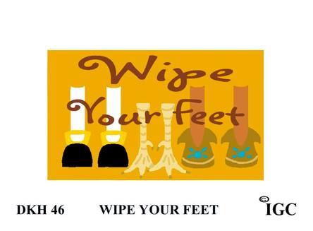 Wipe Your Feet Thanksgiving Doorknob Hanger