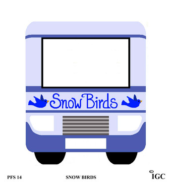 Snow Birds Large Frame