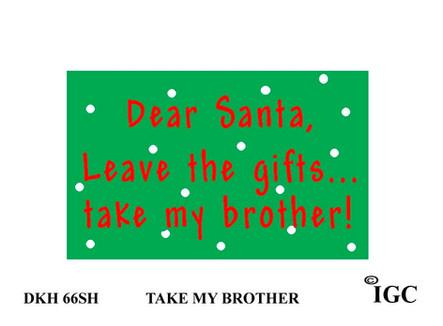 Dear Santa...brother Doorknob Hanger