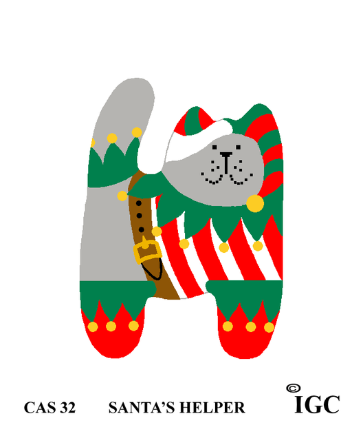 Santa's Helper Cat