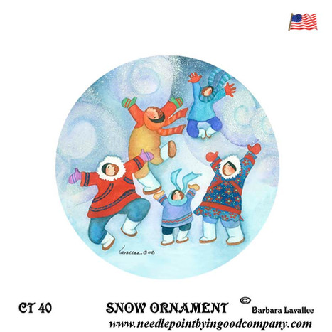 Snow Snow Ornament - Barbara Lavallee
