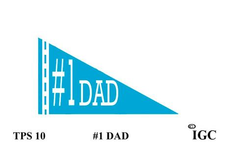 #1 Dad Pennant