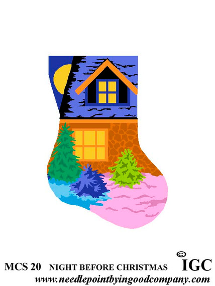 Night Before Christmas mini sock