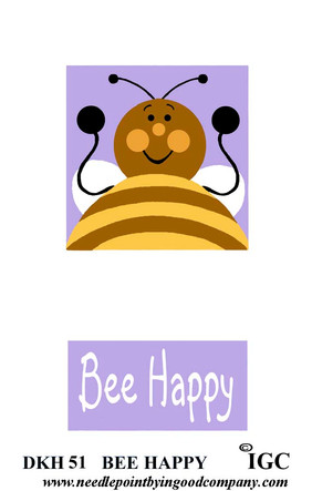 Bee Happy Doorknob Hanger