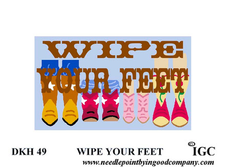 Wipe Your Feet Western Doorknob Hanger