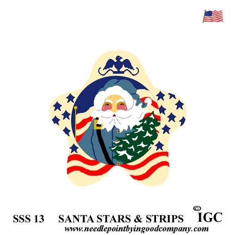 Santa Stars & Stripes Star
