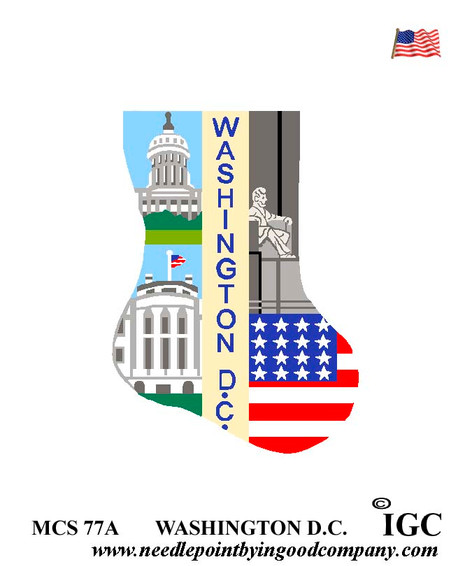 Washington DC mini sock