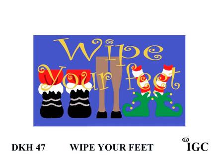 Wipe Your Feet Christmas Doorknob Hanger