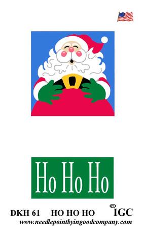 Ho Ho Ho doorknob hanger