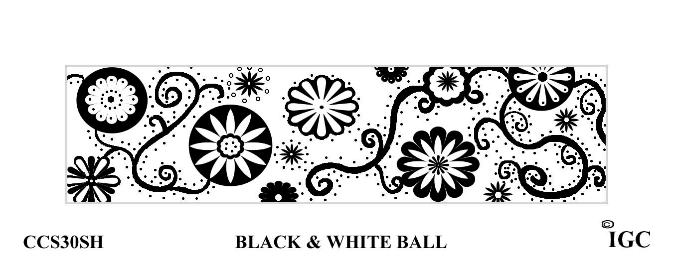Black & White Ball Candle Cozy