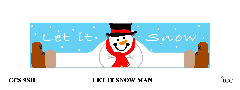 Let It Snow Man Candle Cozy