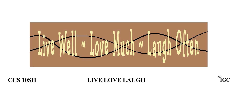Live Love Laugh Candle Cozy
