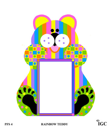 Rainbow Teddy Large Frame