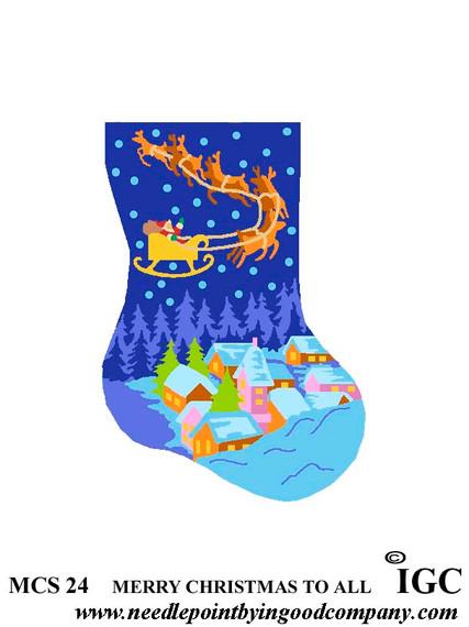 Merry Christmas To All mini sock